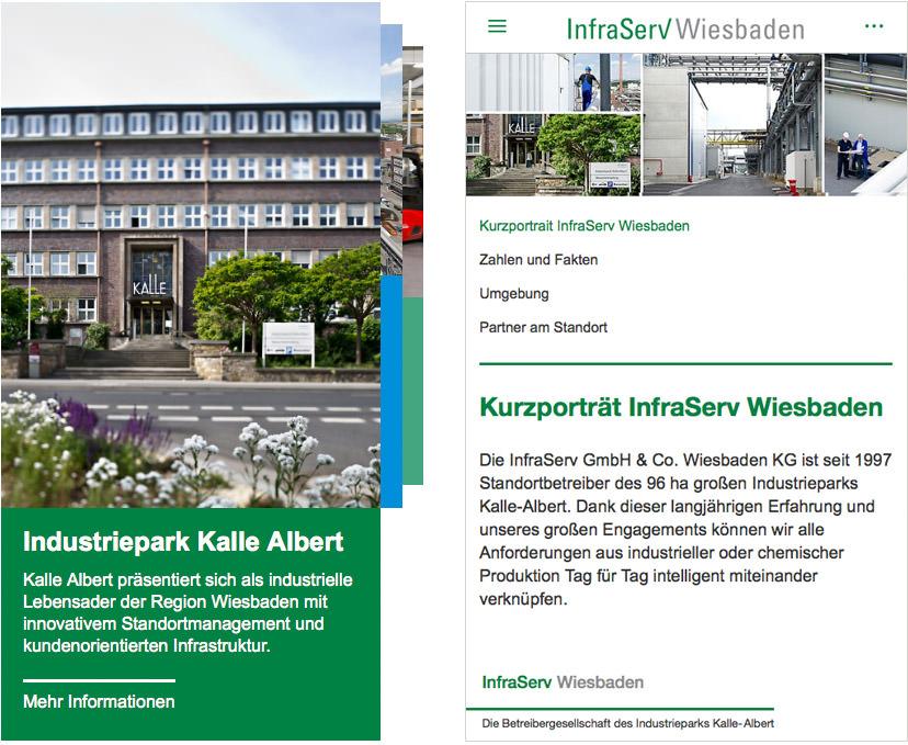 InfraServ Wiesbaden Card UI