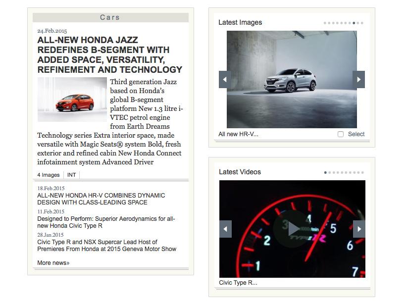 Honda Media Newsroom Assets